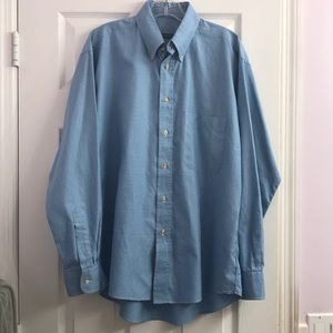 Burberry Men's Blue & White Checkered Shirt